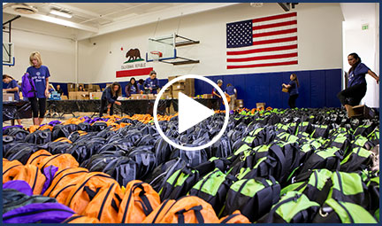 Bay Club Cares Backpack Drive Success